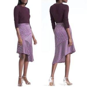 Banana Republic Asymmetrical Hem Striped Skirt